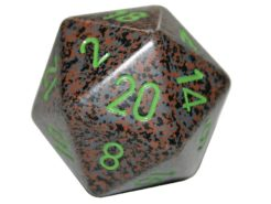 Chessex 20 Sided Dice - Large 34mm Speckled Earth