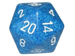 Chessex 20 Sided Dice - Large 34mm Speckled Water