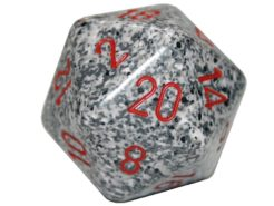 Chessex 20 Sided Dice - Large 34mm Speckled Granite