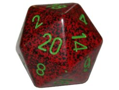 Chessex 20 Sided Dice - Large 34mm Speckled Strawberry