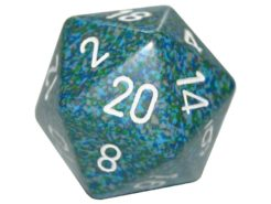 Chessex 20 Sided Dice - Large 34mm Speckled Sea