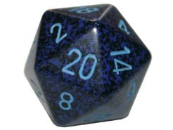 Chessex 20 Sided Dice - Large 34mm Speckled Cobalt