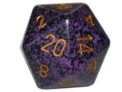Chessex 20 Sided Dice - Large 34mm Speckled Hurricane
