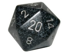 Chessex 20 Sided Dice - Large 34mm Speckled Ninja