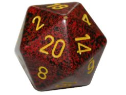 Chessex 20 Sided Dice - Large 34mm Speckled Mercury