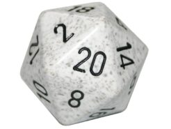Chessex 20 Sided Dice - Large 34mm Speckled Arctic Camo