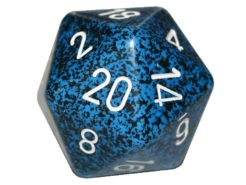Chessex 20 Sided Dice - Large 34mm Speckled Stealth