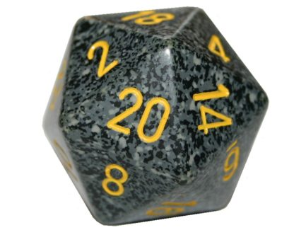 Chessex 20 Sided Dice - Large 34mm Speckled Urban Camo
