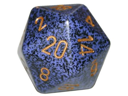 Chessex 20 Sided Dice - Large 34mm Speckled Golden Cobalt