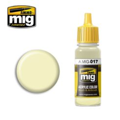 Mig Ammo Acrylic Paint - A.MIG-0017 RAL 9001 Cremeweiss (17ml)
