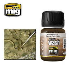 Mig Ammo Enamel Washes (35ml) - Brown Wash For German Dark Yellow