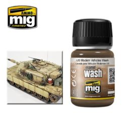 Mig Ammo Enamel Washes (35ml) - US Modern Vehicles Wash