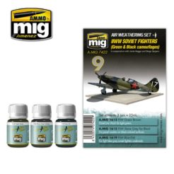 Mig Ammo Weathering Set - WW2 Soviet Airplanes (Green & Black camouflages)