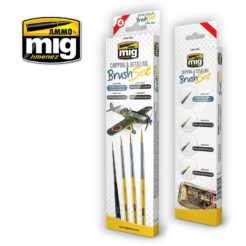 Mig Ammo Chipping And Detailing Brush Set