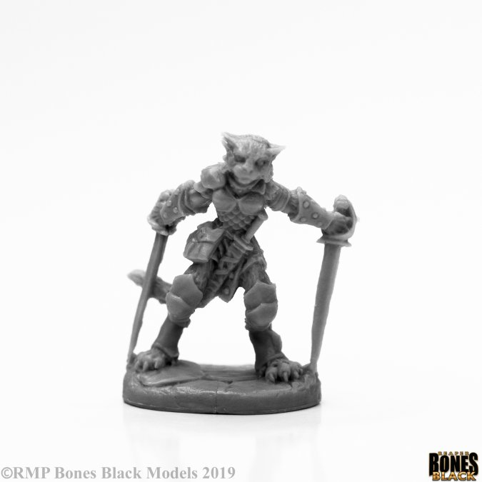 Catfolk Warrior Reaper Bones Black 44117 Mal